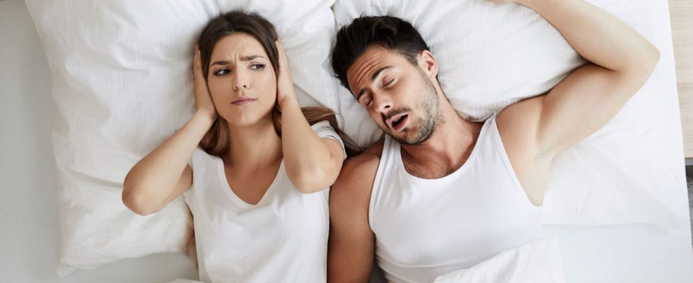 Snoring can cause sleepless nights for a sufferer